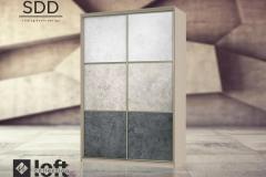 шкафы-купе из декоративного стекла Loft Collection