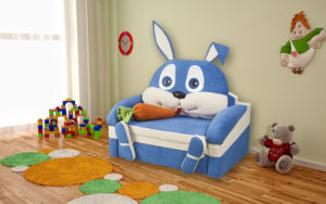 Заяц диван детский