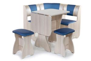Набор мебели для кухни «Тюльпан» мини ясень 114эф./С-101